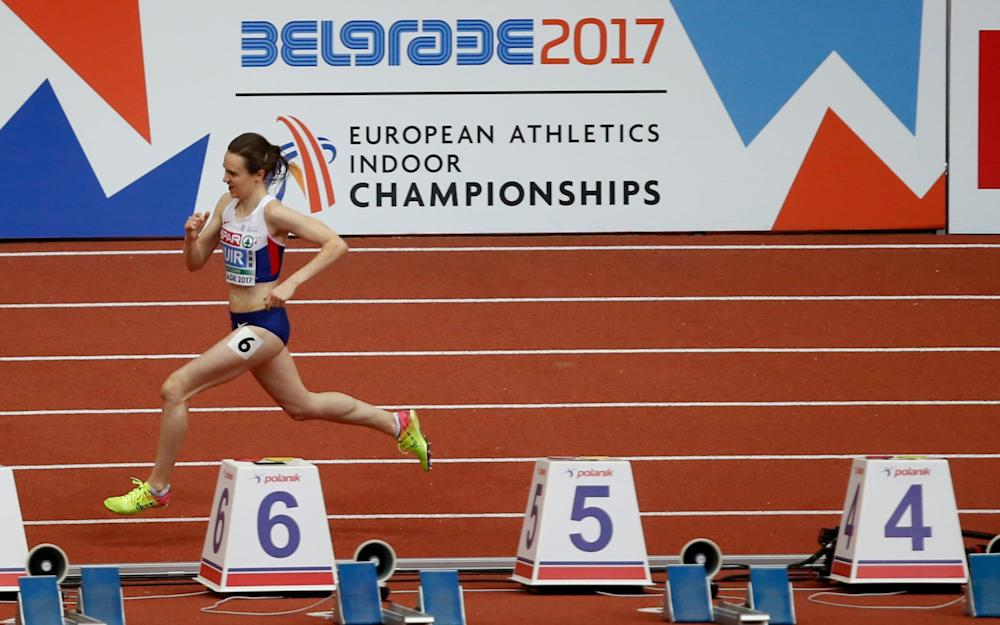 Muir must now take her early 2017 form into the outdoor season - Credit: AP