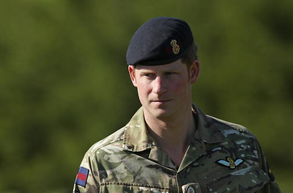 Prince Harry during his time in the Army