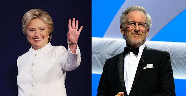Hillary Clinton and Steven Spielberg (Photo: Getty Images)