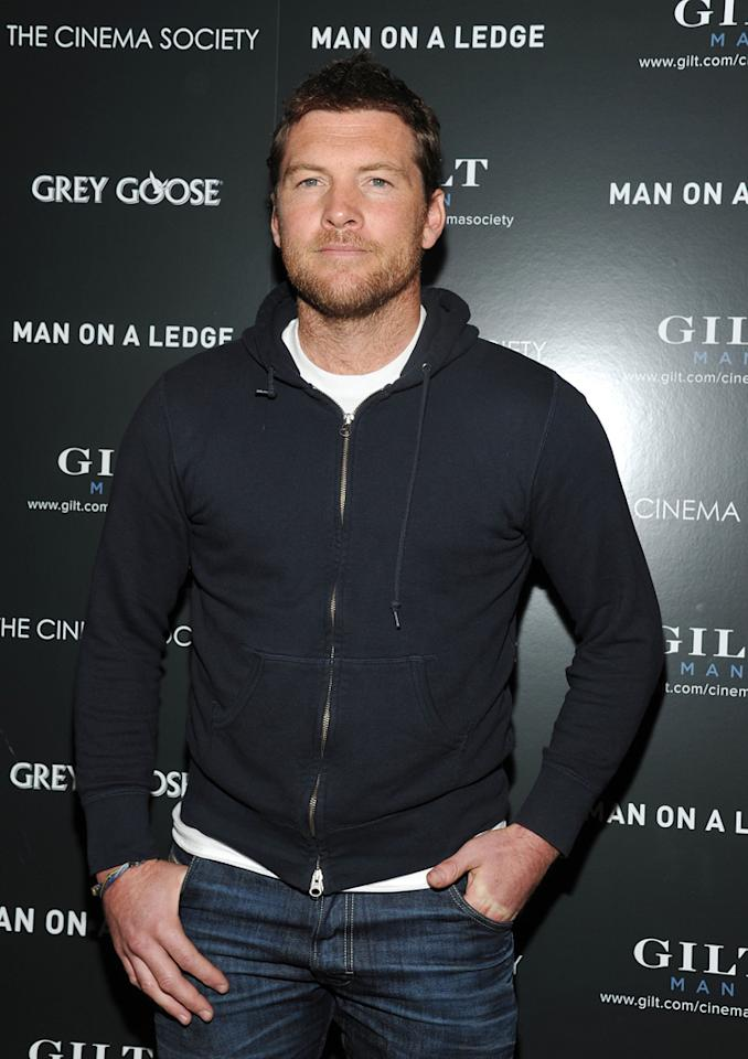 "Sam Worthington at the New York Cinema Society screening of ""<a href=""http://movies.yahoo.com/movie/man-on-a-ledge/"">Man on a Ledge</a>"" on January 20, 2012."