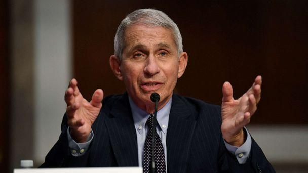 PHOTO: Dr Anthony Fauci, director of the National Institute for Allergy and Infectious Diseases, testifies during a Senate Health, Education, Labor and Pensions (HELP) Committee hearing on Capitol Hill in Washington, June 30, 2020. (Pool New/Kevin Dietsch/Reuters, FILE)