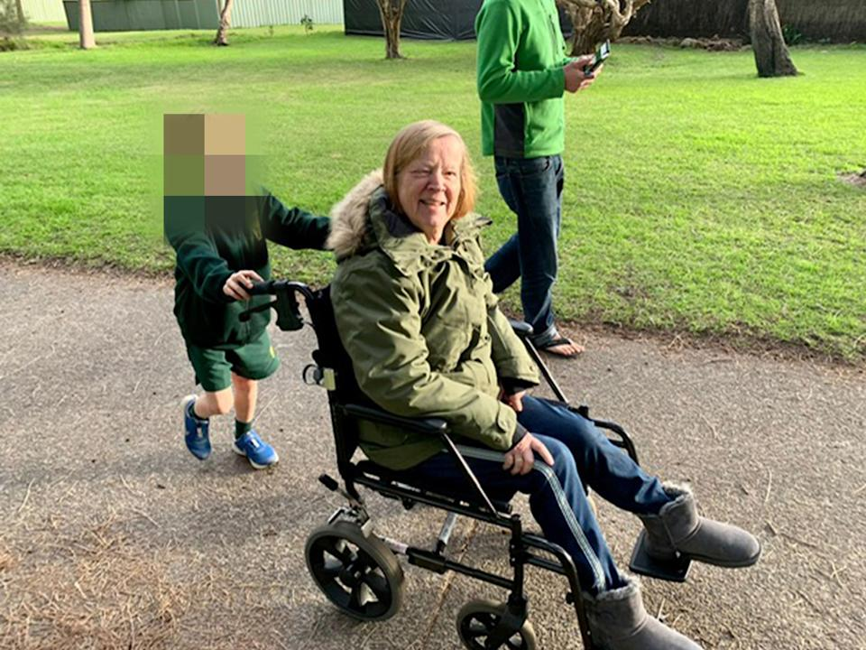 An image of Irmi Von Linde. Her daughter has been locked in quarantine for two weeks. Source: AAP