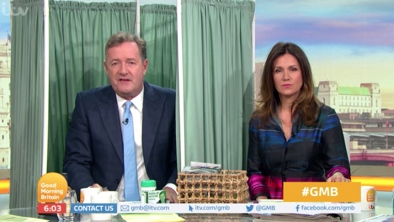 Piers Morgan spoke about the petition today on 'Good Morning Britain'. (ITV)