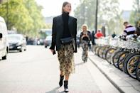 <p>Embrace the <em>Working Girl</em> look with a strong shouldered blazer, a pencil skirt, and understated black leather ankle boots.</p>