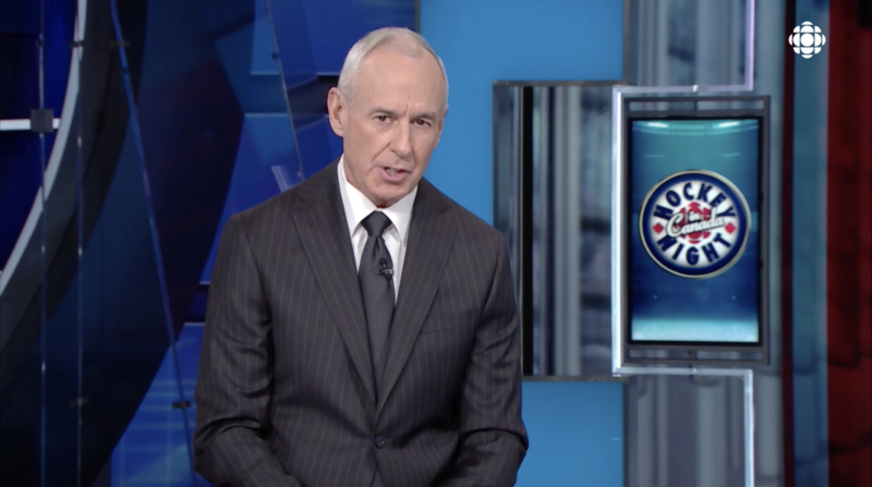 Ron MacLean addressed the public on the first Hockey Night in Canada broadcast without Coach's Corner in over three decades. (Sportsnet)