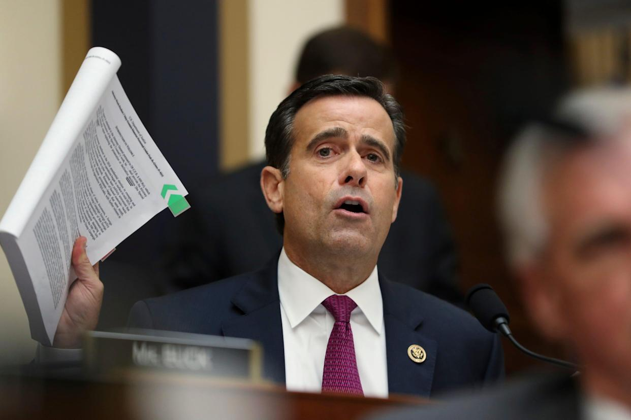 Rep. John Ratcliffe, R-Texas, took his name out of consideration as President Trump's Director of National Intelligence after after Democrats and some Republicans raised questions about whether he exaggerated his work as federal prosecutor of terrorism cases.