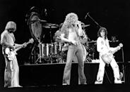 <p>News that the English heavy metal band were being sued for allegedly plagiarising the intro for 'Stairway to Heaven' rocked the music industry. It was their breakthrough hit, but its familiar riff was said to be taken from Spirit's track 'Taurus'. However, the band were found not guilty last November.<br> (Photo: Larry Hulst/Michael Ochs Archives/Getty Images) </p>