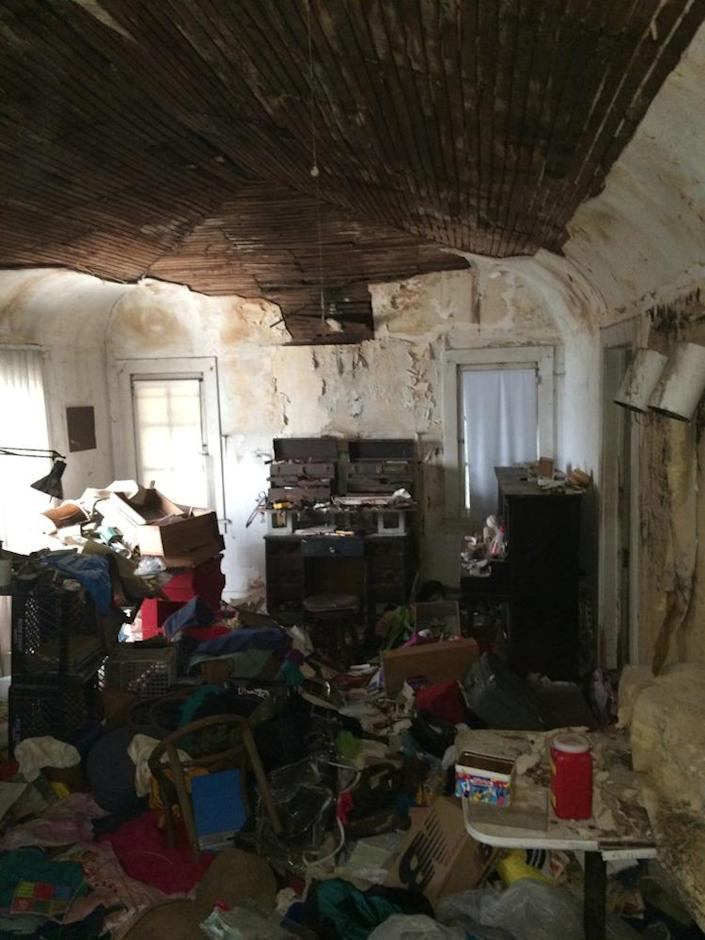 """<p>The previous owner """"had some hoarder tendencies and unfortunately was not able to care for the property,"""" Kenihan says. <i>(Photo: Charmaine David for Kenihan Development)</i></p>"""