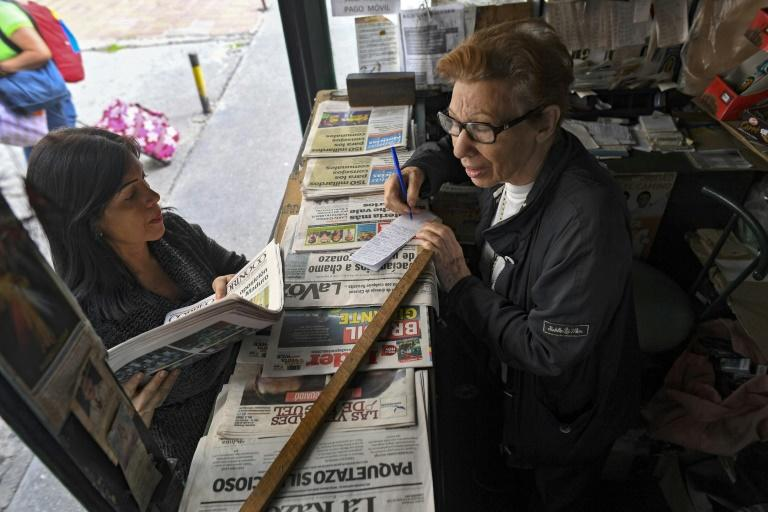 Venezuela used to have dozens of newspapers in circulation but most have closed since the economic crisis kicked in and the government started controlling paper distribution (AFP Photo/YURI CORTEZ)