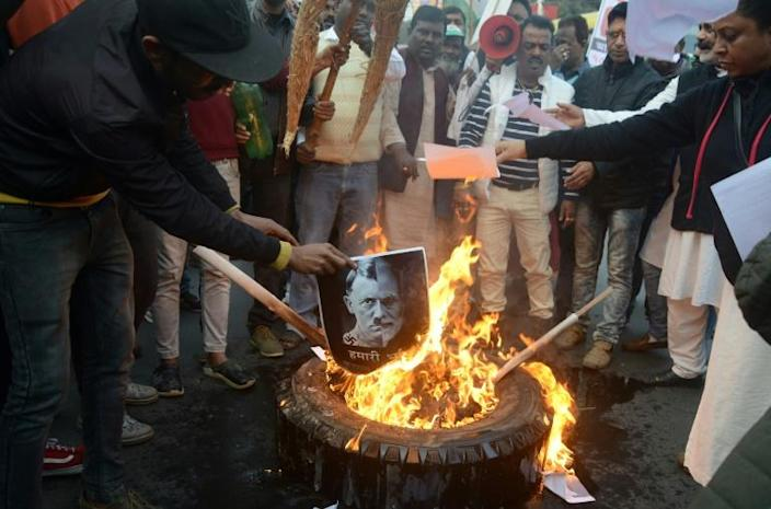 Protests have flared up across India against a citizenship law seen as discriminating against Muslims (AFP Photo/DIPTENDU DUTTA)