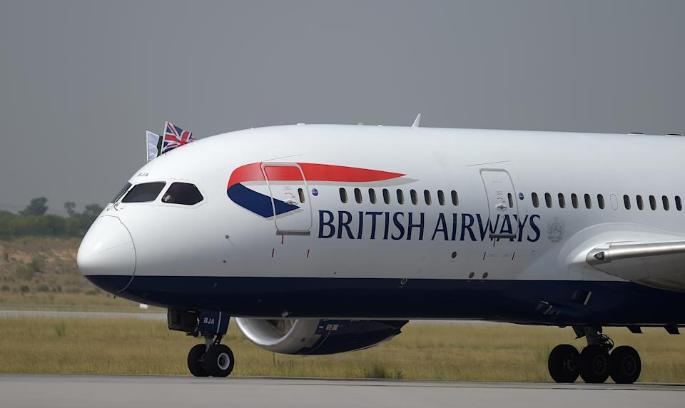 The three BA crew were sent home (Photo credit should read AAMIR QURESHI/AFP/Getty Images)