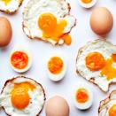 """<p>Younger eggs are tighter, with taut whites and tall yolks. Fresh eggs are also easier to fry (the whites stay put and the yolks, sitting high above the heat, are more likely to remain runny), <a href=""""https://www.bonappetit.com/story/how-to-poach-an-egg-with-confidence?mbid=synd_yahoo_rss"""" rel=""""nofollow noopener"""" target=""""_blank"""" data-ylk=""""slk:to poach"""" class=""""link rapid-noclick-resp"""">to poach</a> (the whites eagerly coalesce around the yolks), and to boil—you're less likely to get green-grey rings, lopsided yolks, or flat ends. (<strong>Caveat!</strong> Older eggs, however, will be easier to peel.) At the store, your best bet is to look for the expiration date furthest in the future. </p> <p>If you come across a mystery egg and you want to know its age, put it in a bowl of water: If it's buoyant, it's old (though it's probably fine to eat unless it has an off odor). When in doubt, go to the farmers market, where there are fewer middlemen between you and the hens.</p>"""