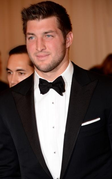 Tim Tebow steps out at the 'Schiaparelli And Prada: Impossible Conversations' Costume Institute Gala at the Metropolitan Museum of Art in New York City on May 7, 2012 -- Getty Premium