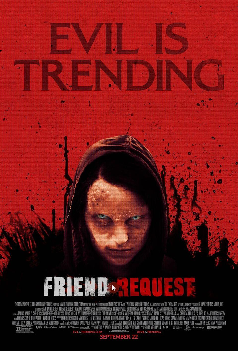 <p>Removing someone from your social media platforms has never had more severe consequences. A college student unleashes the wrath of a demonic force when she unfriends a mysterious girl on social media.</p>