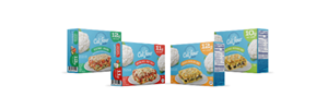 From freezer to table in just five minutes, these low-carb meals from Cali'flour Foods make eating healthy easier than ever. Choose Lasagna with Meat Sauce, Vegetable Lasagna, Chicken Enchilada Bake or Vegetable Enchilada Bake, all 360 calories or less.