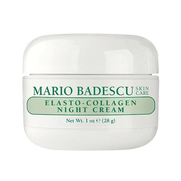 """<p><strong>Mario Badescu</strong></p><p>amazon.com</p><p><strong>$18.00</strong></p><p><a href=""""http://www.amazon.com/dp/B00172PC7G/?tag=syn-yahoo-20&ascsubtag=%5Bartid%7C2089.g.341%5Bsrc%7Cyahoo-us"""" rel=""""nofollow noopener"""" target=""""_blank"""" data-ylk=""""slk:Shop Now"""" class=""""link rapid-noclick-resp"""">Shop Now</a></p><p>Add this night cream to your routine after cleansing and toning to help you achieve plumper, smoother skin. It's made with a blend of collagen, elastin, and antioxidant oils that hydrate and improve skin's firmness.<br></p>"""