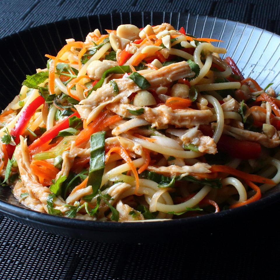 """<p>""""There's just something delightfully addictive about this special combination of cold and spicy. This recipe is the perfect catchall for all those summer vegetables we're supposed to be eating more of, as well as any dry leftover chicken you have around,"""" Chef John says.</p>"""