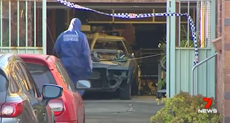 Forensic investigators at the scene. Source: Seven News