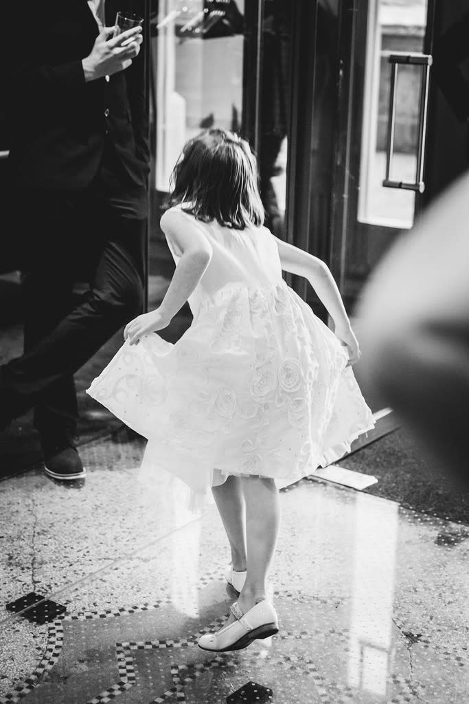 Your kid pulling people onto the dance floor isn't everyone's idea of cute. (Photo: Gallery Stock)