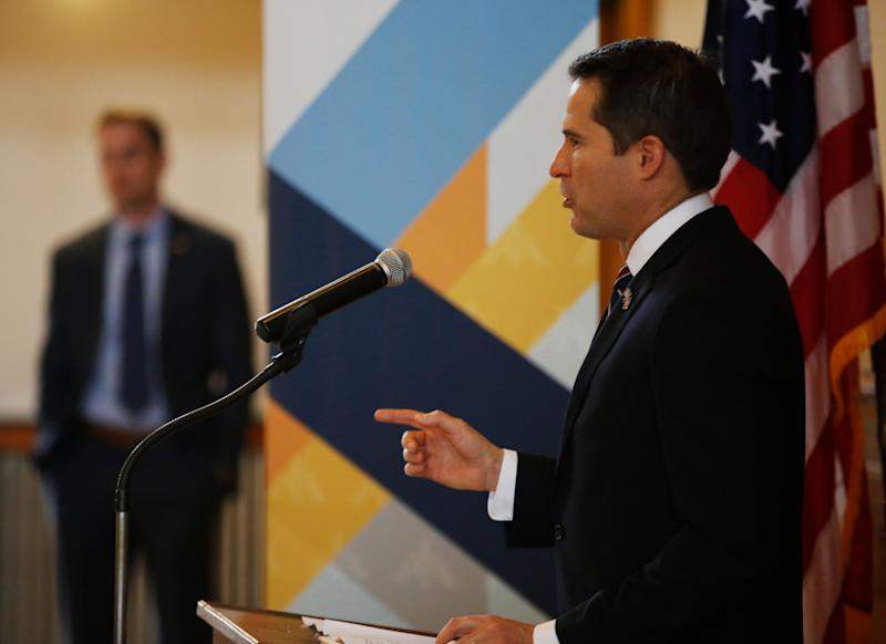 Activists supporting Nancy Pelosi's bid for speaker of the House are causing problems back home for Democratic Rep. Seth Moulton of Massachusetts. (Photo: Boston Globe via Getty Images)
