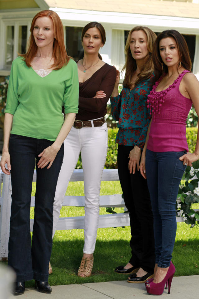 "<b>""Desperate Housewives""</b><br> Sunday 5/13 at 9 PM on ABC<br><br>After eight seasons of campy hi-jinks, the ladies of Wisteria Lane say goodbye for good this month with a two-hour series finale. But of course, this long-running soap isn't going out with a whimper: The finale serves up a wedding (Renee ties the knot with Ben), a birth (Susan's daughter Julie has her baby), a returning star (Dana Delaney, reprising her role as Katherine Mayfair), and even a flashback to the day series narrator Mary Alice first came to Wisteria Lane. Sounds like a full-circle finale to us.<br><br><a href=""http://yhoo.it/IHaVpe%20"">More on Upcoming Finales </a>"