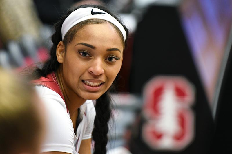 Dijonai Carrington transferred to Baylor in the spring, but the former Stanford women's basketball player has stayed connected to The Big Homie Project. (Photo by Cody Glenn/Icon Sportswire via Getty Images)