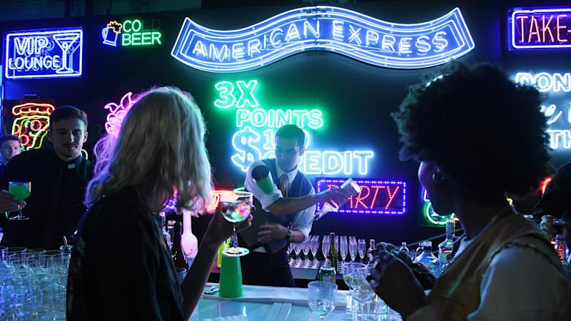 Guests attend as American Express celebrates the refresh of Green From Amex at Industria Williamsburg on October 24, 2019 in Brooklyn, New York.