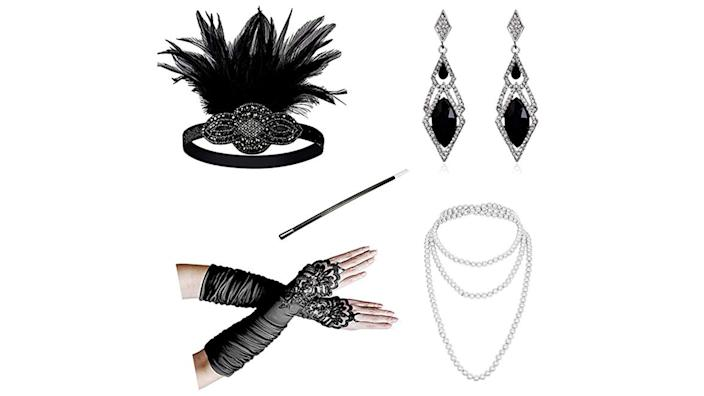 Serve up sleek flapper chic with these accessories.