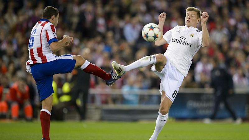 Koke Toni Kroos Atletico Madrid Real Madrid UEFA Champions League 04142015