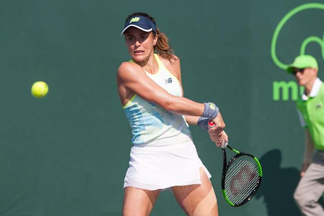 Nicole Gibbs in action (Photo by Aaron Gilbert/Icon Sportswire via Getty Images)
