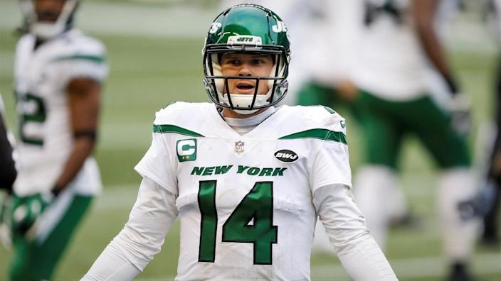 Jets Sam Darnold reacts vs Seattle Seahawks