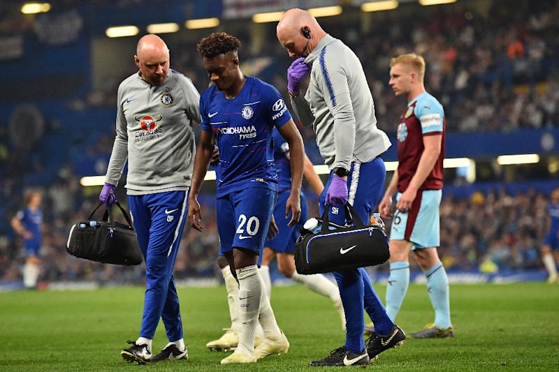 Chelsea's Callum Hudson-Odoi limped off after suffering a serious Achilles injury