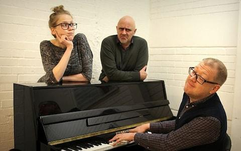 15 Minute Musical cast members Pippa Evans, Dave Lamb and Richie Webb - Credit: BBC