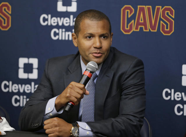 First-year Cavaliers general manager Koby Altman excelled at the trade deadline. (AP)