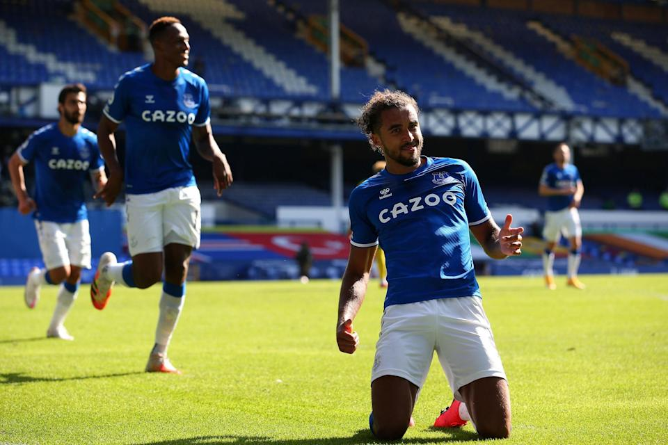 Calvert-Lewin has an incredible eight goals in five appearances this season: Getty Images