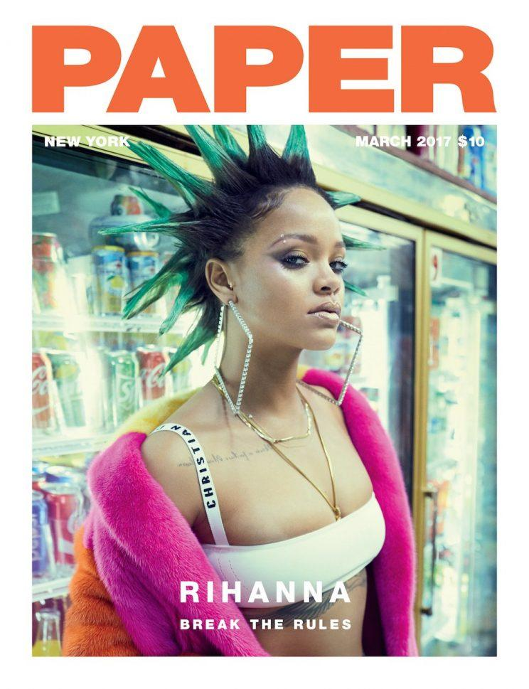 Rihanna rocked Dior on the cover of Paper Magazine. (Photo: Paper Magazine)