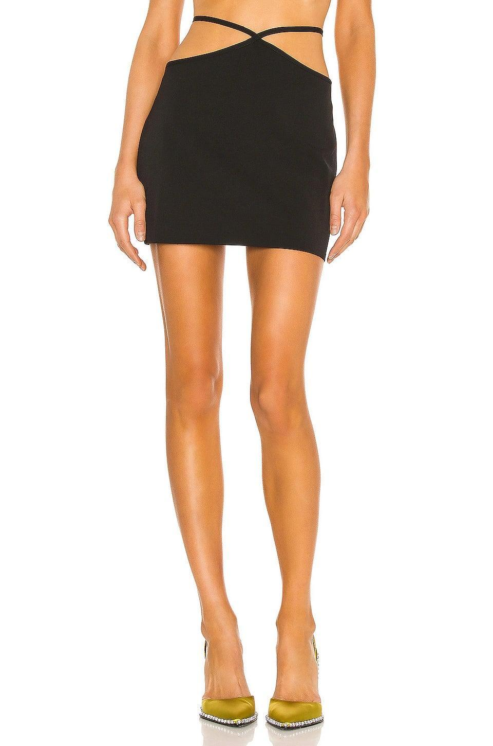 <p>We're obsessed with the sexy straps on this <span>Miaou Mini Nadine Skirt</span> ($195).</p>