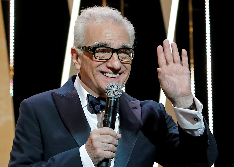 "71st Cannes Film Festival - Opening ceremony and screening of the film ""Everybody Knows"" (Todos lo saben) in competition - Cannes, France, May 8, 2018. Director and screenwriter Martin Scorsese talks on stage. REUTERS/Stephane Mahe"