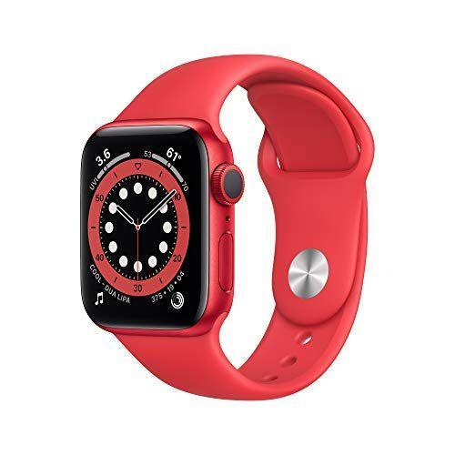 """<p><strong>Apple</strong></p><p>amazon.com</p><p><strong>$329.00</strong></p><p><a href=""""https://www.amazon.com/dp/B08J5RBMRN?tag=syn-yahoo-20&ascsubtag=%5Bartid%7C2139.g.36132587%5Bsrc%7Cyahoo-us"""" rel=""""nofollow noopener"""" target=""""_blank"""" data-ylk=""""slk:BUY IT HERE"""" class=""""link rapid-noclick-resp"""">BUY IT HERE</a></p><p>Guys, the Apple Watch Series 6 rarely goes on sale. Amazon is saving you $70 when you go red on the latest and greatest wrist tech. It's a fitness tracker, sleep monitor, voice assistant, elevation tracker, heart rate monitor and so much more. This is one purchase that will make your entire life far more efficient. </p>"""