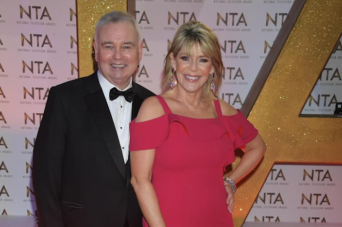 LONDON, ENGLAND - JANUARY 28: Eamonn Holmes and Ruth Langsford attend the National Television Awards 2020 at The O2 Arena on January 28, 2020 in London, England. (Photo by David M. Benett/Dave Benett/Getty Images)