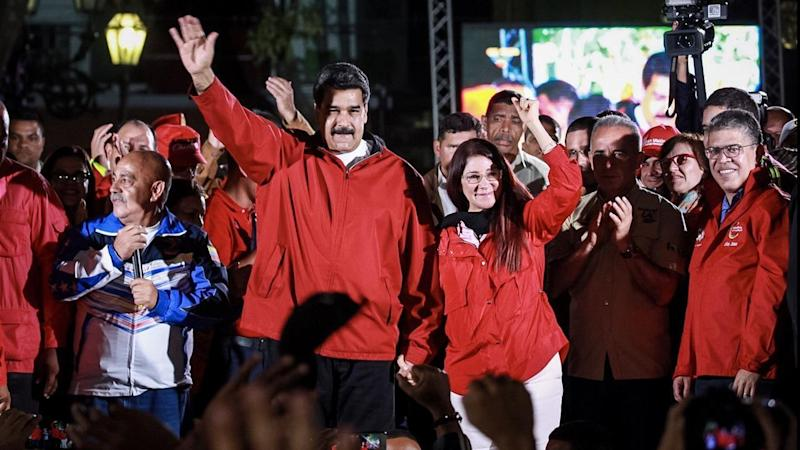 Venezuelan President Nicolas Maduro and his wife and deputy of the National Assembly Cilia Flores.