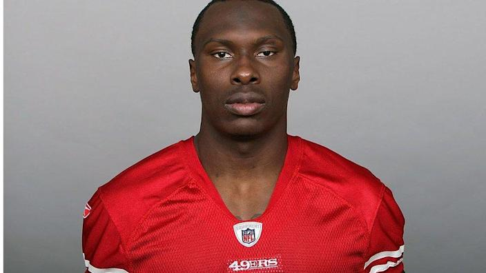 Mr Adams, pictured in 2010 when he was on the San Francisco 49ers