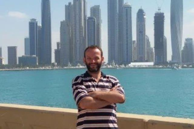 A British ex-politician was detained in Dubai for two years after an angry taxi driver accused him of failing to pay a £2 fare. See SWNS story SWDUBAI; David's own Dubai ordeal began in May 2013 with a mix up over a ride in a government owned state taxi. There had been some confusion with the taxi driver setting off with the wrong people in the car. David had told the taxi driver to stop, but the driver ignored him for 50 metres before pulling over near a policeman. The driver angrily complained to the officer, who told David to pay the minimum amount of AED 10 (£2). David went to an ATM a few metres away and withdrew some cash. He dropped the money into the cab window. Having paid the £2, he went back to his friends.