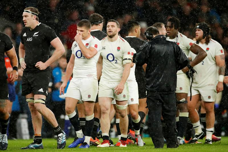 Rugby Union - Autumn Internationals - England v New Zealand - Twickenham Stadium, London, Britain - November 10, 2018 England's Owen Farrell looks dejected after the match Action Images via Reuters/Andrew Boyers