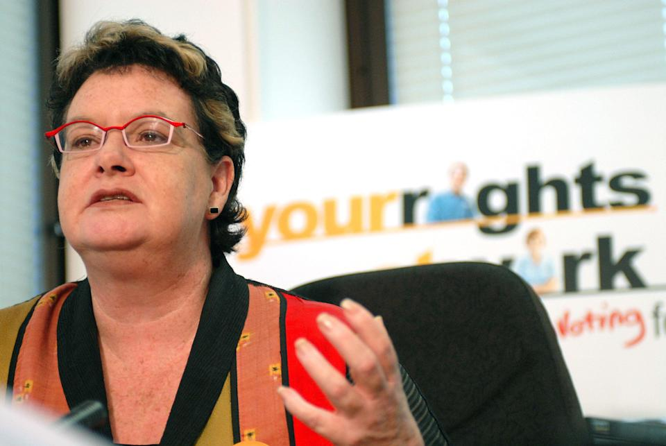ACTU president Sharan Burrow addresses a media conference in Brisbane, Friday, May 4, 2007. Ms Burrow vowed the union movement would continue its campaign against federal government's Work Choices legislation. (AAP Image/Maria Zsoldos)