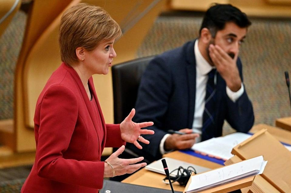 The First Minister did not accept there was a crisis in the ambulance service (Jeff J Mitchell/PA) (PA Wire)