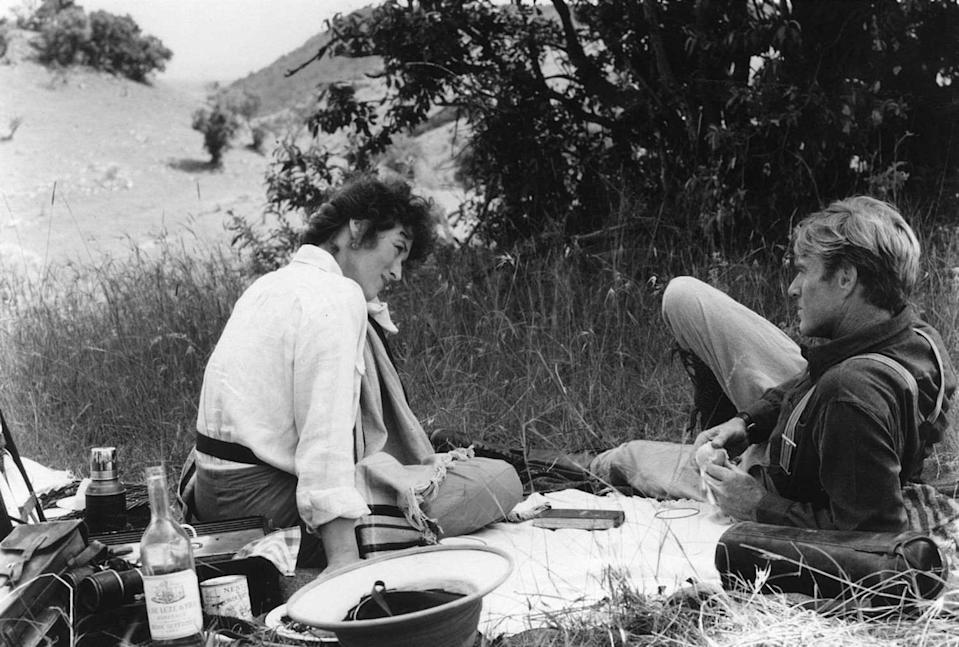 Meryl Streep and Robert Redford appear in a scene from 'Out of Africa.'