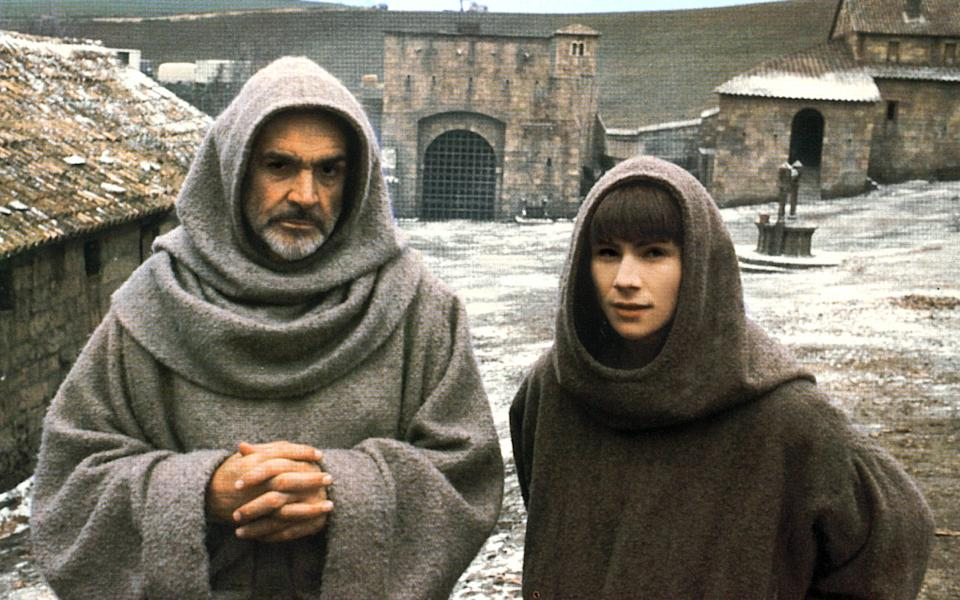 Connery with Christian Slater in The Name of the Rose (1986) - Allstar/Cinetext Collection