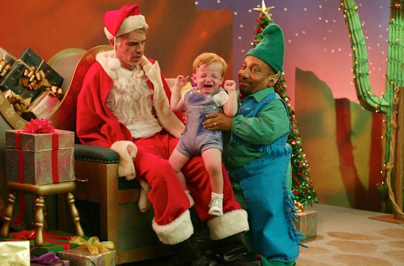 Bad Santa... He's only ever naughty - Credit: Sony Pictures