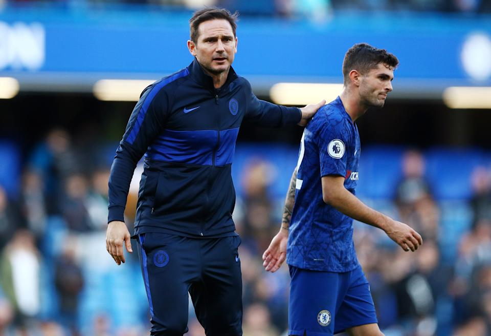 After luring a host of new signings this summer, Chelsea manager Frank Lampard (left) and attacker Christian Pulisic will he hoping to improve on last season's fourth-place Premier League finish. (Reuters/Hannah McKay)